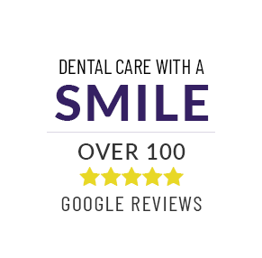 Over 100 5-star Google reviews badge